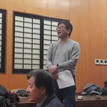 新常任幹事の宇佐美氏(H8卒)