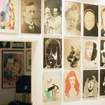 Neubau EFH Einfamilienhaus Gross Rakow, Deutschland, als Altersruhesitz und Künstlerwohnung, hier die Ansicht der Portraitgalerie.