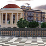 GAZEBO CON SFONDO HOTEL PALAZZO