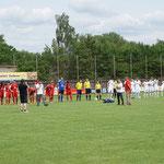 Einlaufen zum HL Spiel Sportfreunde Seligenstadt gg Stadtallendorf