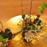 お正月アレンジメント 苔玉