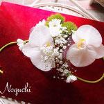 胡蝶蘭の髪飾り