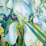 Weiße Lilien 130x100 cm, verk