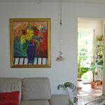 Sonnenblume Acryl/ Leinw. 130x100 verk./ sold
