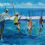 Stelzenfischer, verkauft