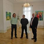 v.l. Harald Böhm, Timo Cyriax EG Lorsch, Friedrich Emig erster Stadtradt Lorsch