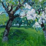 blühende Obstbäume , verk/ sold