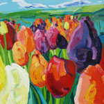 Tulpenfeld 100x130 cm verk/ sold