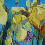 Gelbe Lilien 130x100 cm