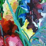 Gladiolen 130x100 cm ,verkauft