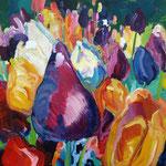 Tulpenfeld 100x130 cm, verkauft
