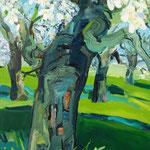 blühender Kirschbaum 130x100 cm verkauft/ sold