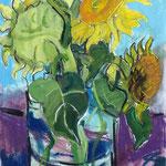 Sonnenblumen Mischtechn./Papier 70x50 cm