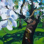 blühender Obstbaum 100x130 cm verk/ sold