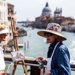 Artists at the Ponte dell'accademia