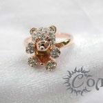 """кольцо """"Тедди"""" роз. золото - 780 руб."""