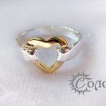 """кольцо """"Золотое сердце"""" - 630 руб."""