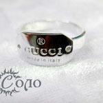 """кольцо """"Овал с надписью"""" - 630 руб."""