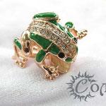 """кольцо """"Лягушка большая"""" роз. золото - 780 руб."""