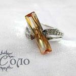 """кольцо """"Циркон поперек"""" бел. золото - 870 руб."""