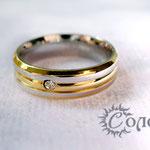 """кольцо """"Обруч с цирконом"""" - 685 руб."""
