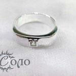 """кольцо """"Квадратное с цирконом"""" - 630 руб."""
