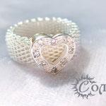 """кольцо """"Сеть сердца"""" - 620 руб."""