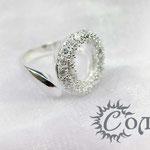 """кольцо """"Пряжка с цирконами"""" - 630 руб."""