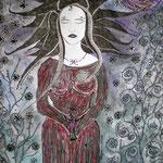 Wenn der Rose Blüte welken - 47,5 x 36 cm - 2002 - Mischtechnik - Malerei auf Papier