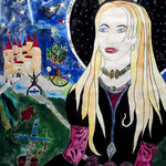 Fee Morgana - 48 x 36 cm - 1996 - Mischtechnik - Malerei auf Papier