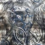 Ritual der 4 Augen - 56 x 42 cm - 1993 - Mischtechnik - Malerei auf Papier