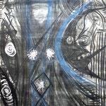 Nachtmeer - 56 x 42 cm - 1993 - Mischtechnik - Malerei auf Papier
