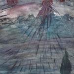 See der Träume - 29,7 x 21 cm - 1994 -Mischtechnik - Malerei auf Papier