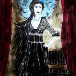 Wildes Blut - 47,5 x 36 cm - 2015 - Mischtechnik - Malerei auf Papier