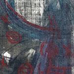 Traumauge III - 14,5 x 9,5 cm - 1994 - Mischtechnik - Malerei auf Pappe
