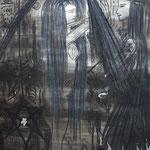 Steig empor, oh du Elfe - 56 x 42 cm - 1993 - Mischtechnik - Malerei auf Papier