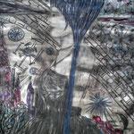 Phinella's Träume - Mischtechnik - Malerei auf Papier