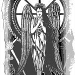 Goddess Snotra - 21 x 13,7 cm - 1996 - Tusche auf Papier - digital bearbeitet