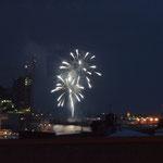 Das grosse Feuerwerk war am Tag zuvor. Trotzdem gab es zum Abschluss ein kleines, schön anzusehen