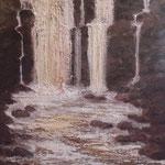 Wasserfall (Öl auf Leinwand 40x50)