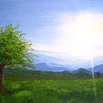 Bergwiese (Öl auf Leinwand 90x60)