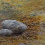 Steine im Bach (Öl 40 x 40)