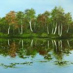 Wasserspiegelung II (Öl 70 x 50)