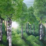Birkenwald (Öl auf Leinwand 60x90)