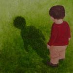 Schatten (Öl auf Hdf 40x40)