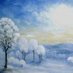 Winterlandschaft (Öl auf Leinwand 60x40)