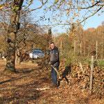 Schnittgut bringt Markus Schlagow auf die Benjeshecke