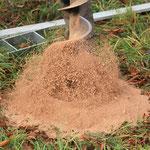 Lockerer Sand aus der Spirale