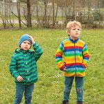 Zwei beeindruckte Zuschauer: Lukas und Felix