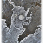 Hahn? Phantasie in Eis - Reinheimer Teich © Jennie Bödeker